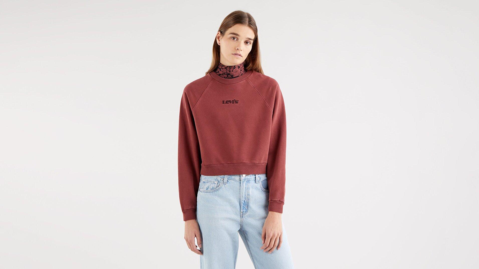 Vintage Raglan Crew Madder Brown Garment Kahverengi Kadın Sweatshirt