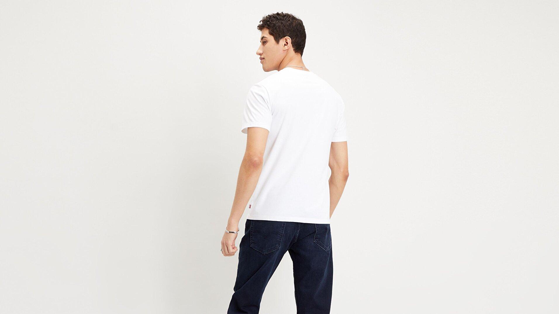 Housemark Graphic Tee Ssnl Outline Erkek Beyaz Tişört