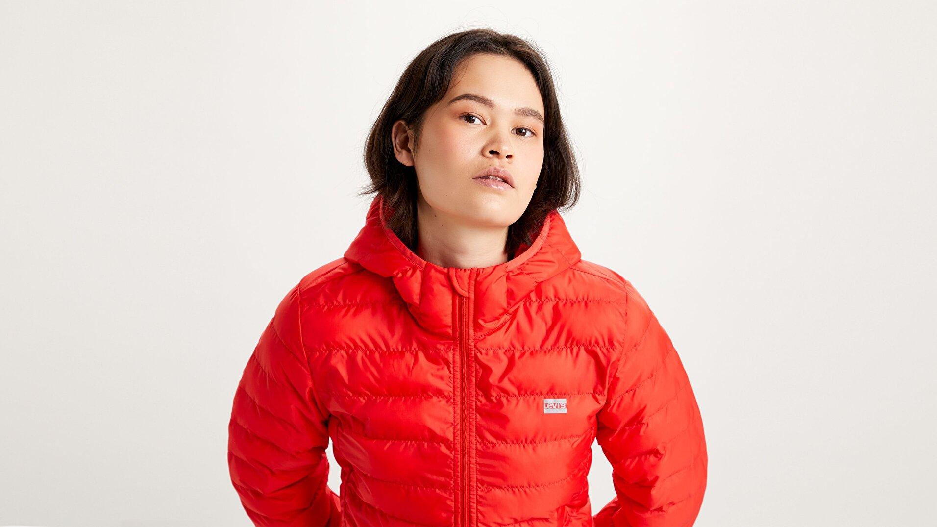 Pandora Packable Kadın Kırmızı Ceket