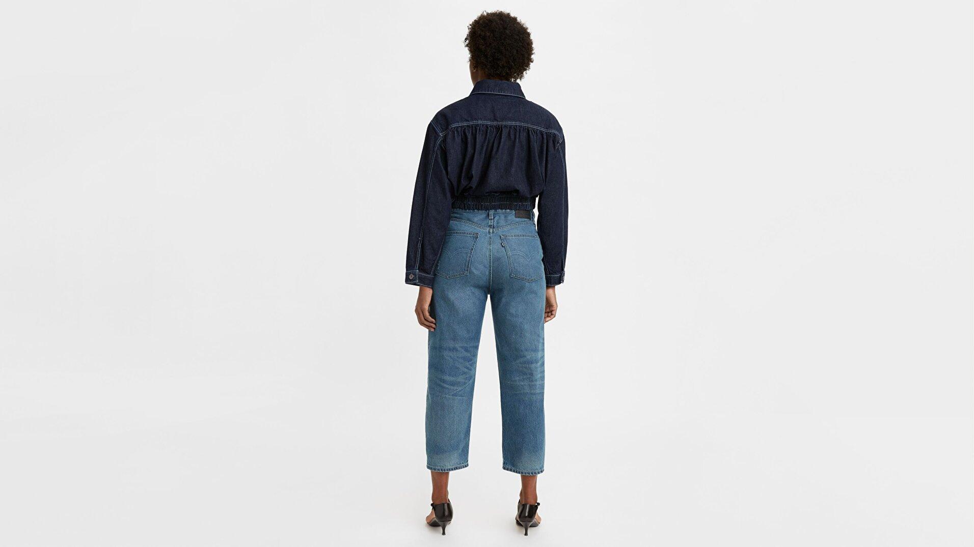 Made & Crafted® Barrel Crop Kadın Jean Pantolon -Lmc Provincial Blue