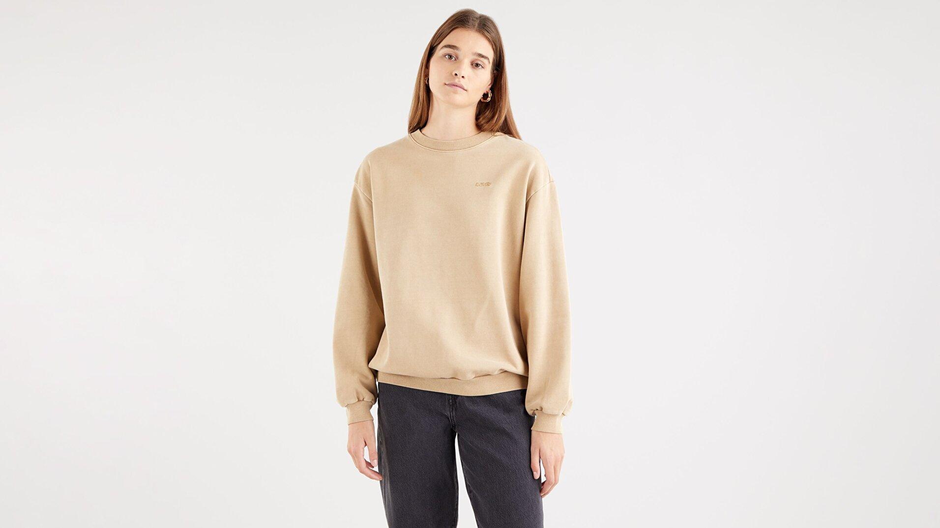Melrose Slouchy Crew Incense Garment Dye Nötr Kadın Sweatshirt