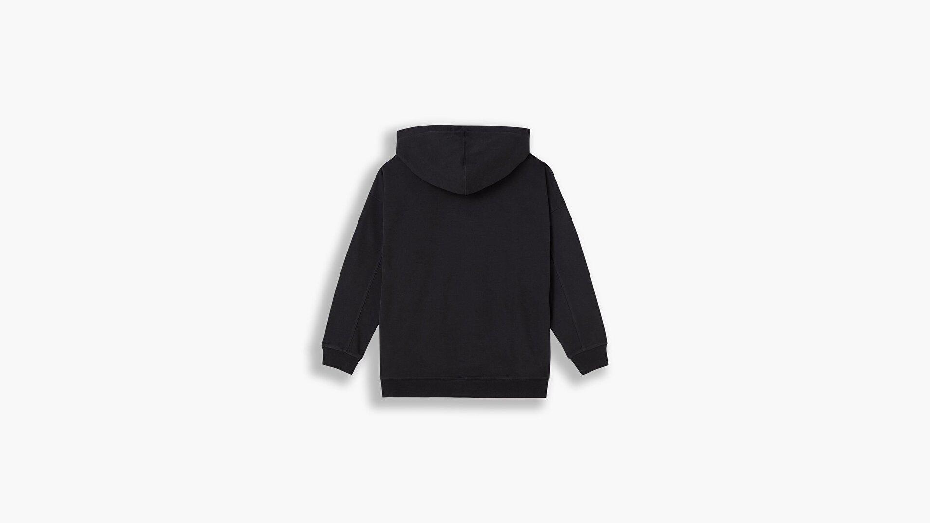 Graphic Rider Hoodie Hoodie Rider Iridescent Siyah  Kadın Sweatshirt