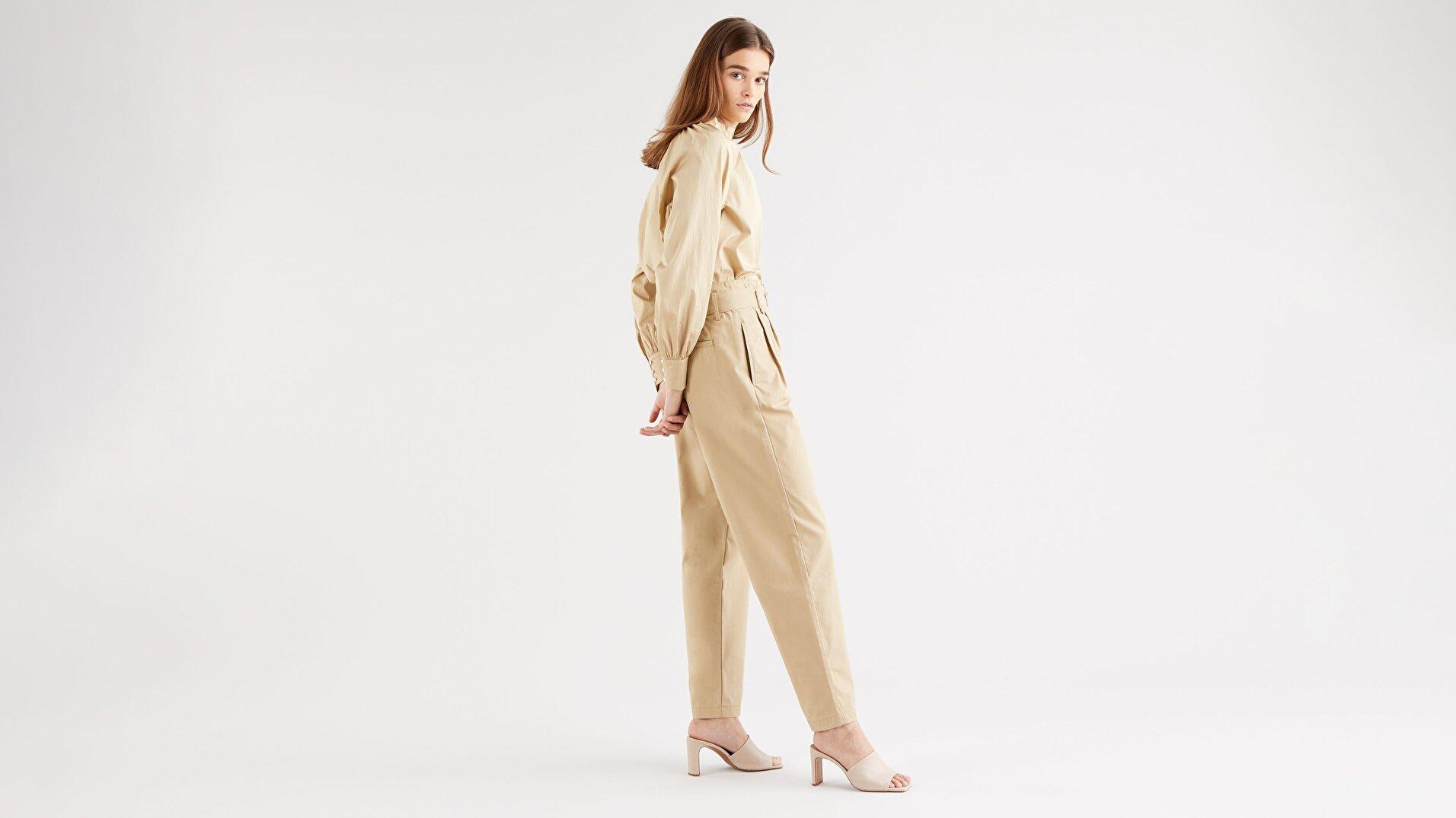 Tailor Yüksek Bel Taper Kadın Jean Pantolon-Soft Structure Incense