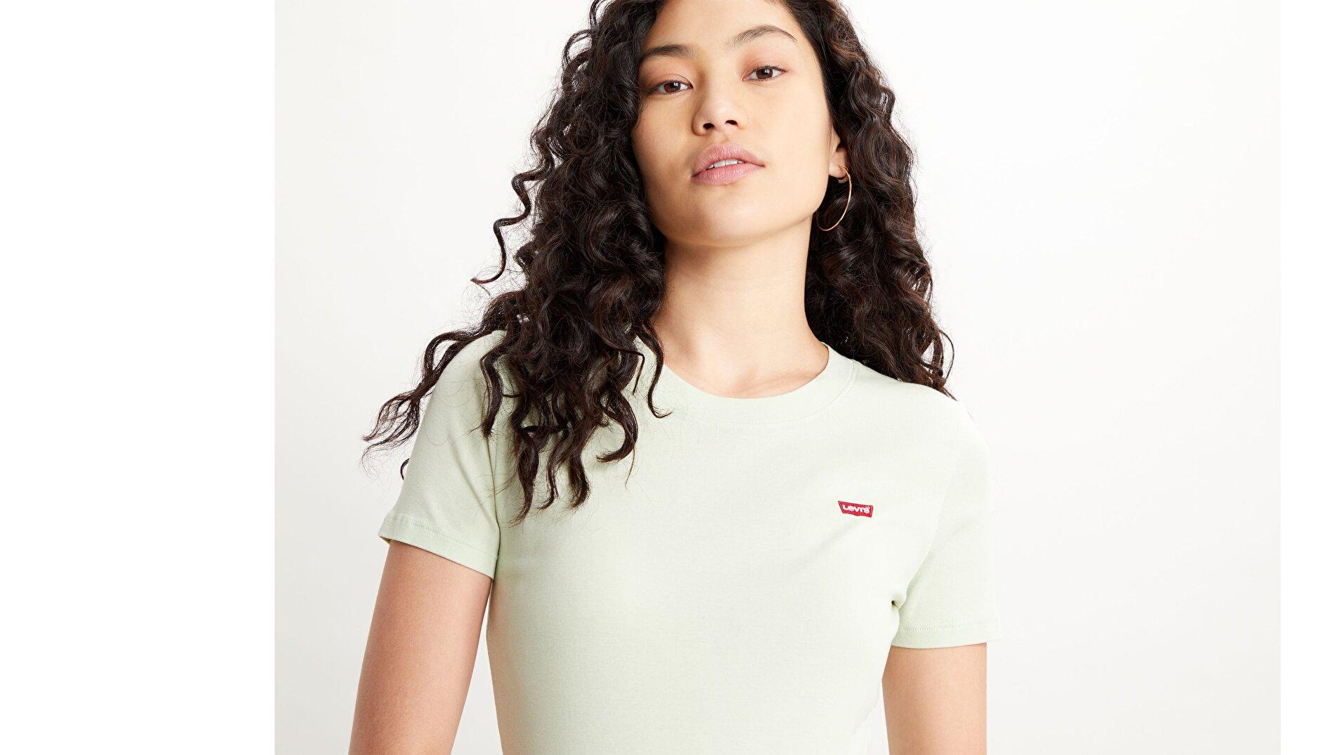Ss Rib Baby Tee Tr Kadın Yeşil Tişört