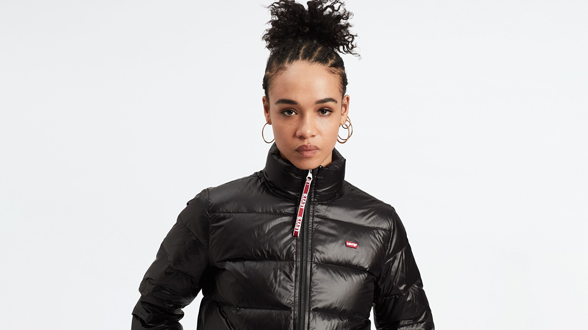 Francine Down Pckble Jkt Meteorite Siyah Kadın Puffer Ceket