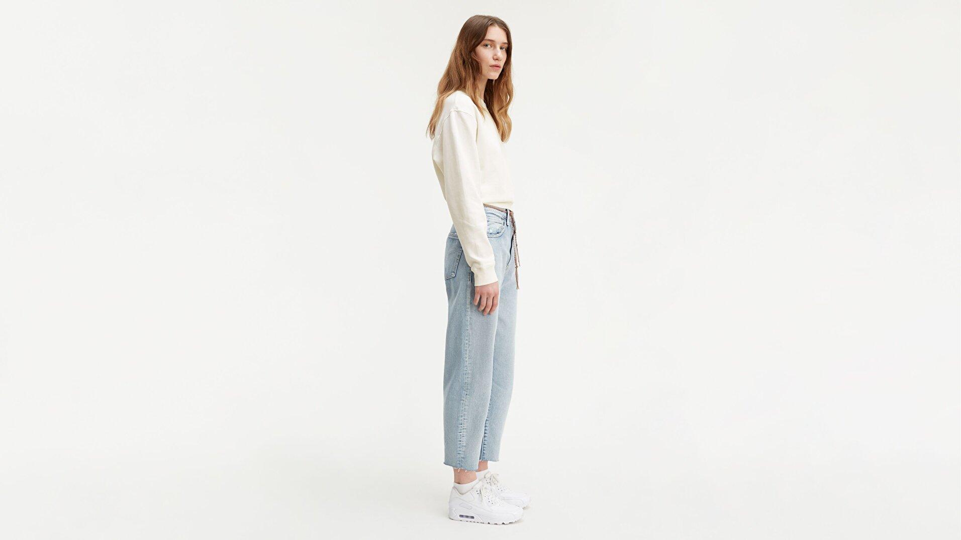 Made & Crafted® Barrel Crop Kadın Jean Pantolon -Lmc Crisp Sky