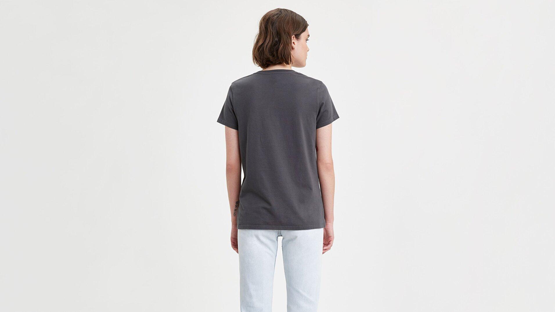 The Perfect Tee 90'S Serif Perfect Siyah Kadın Tişört