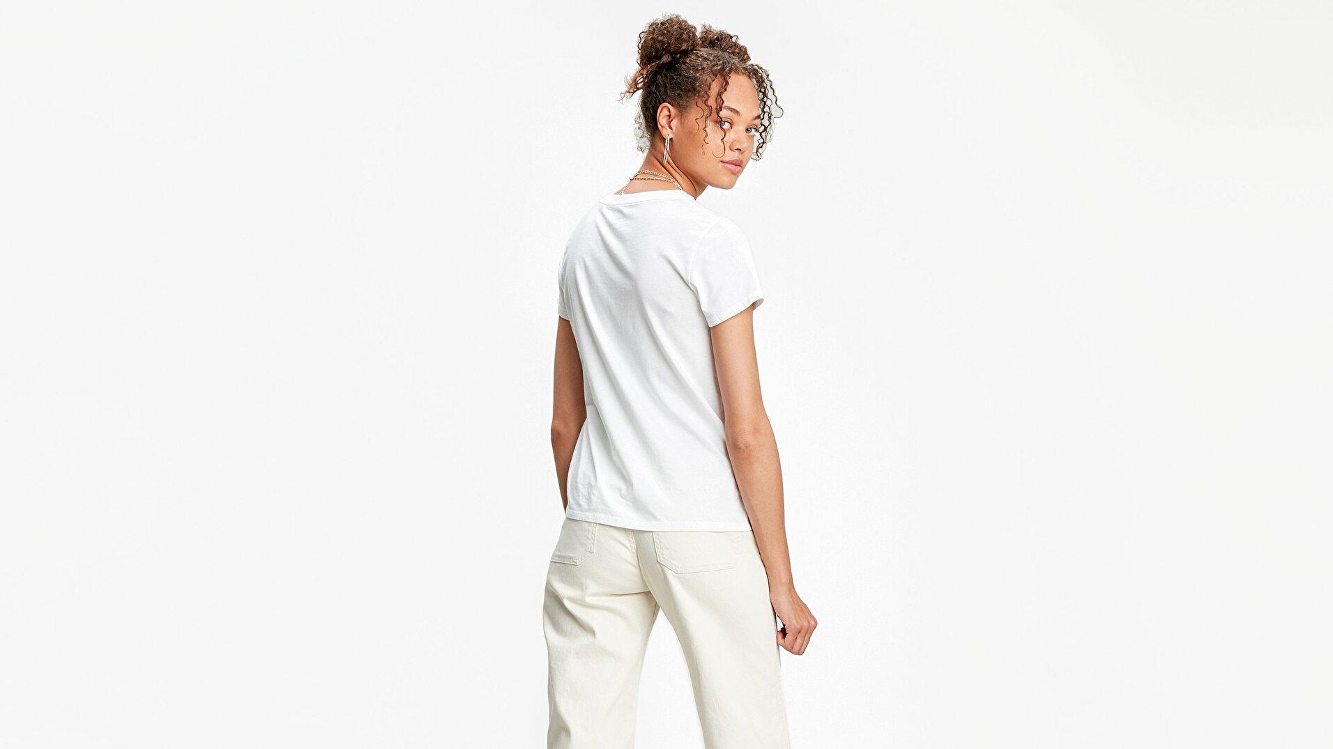 The Perfect Tee Box Tab Beyaz Kadın Tişört