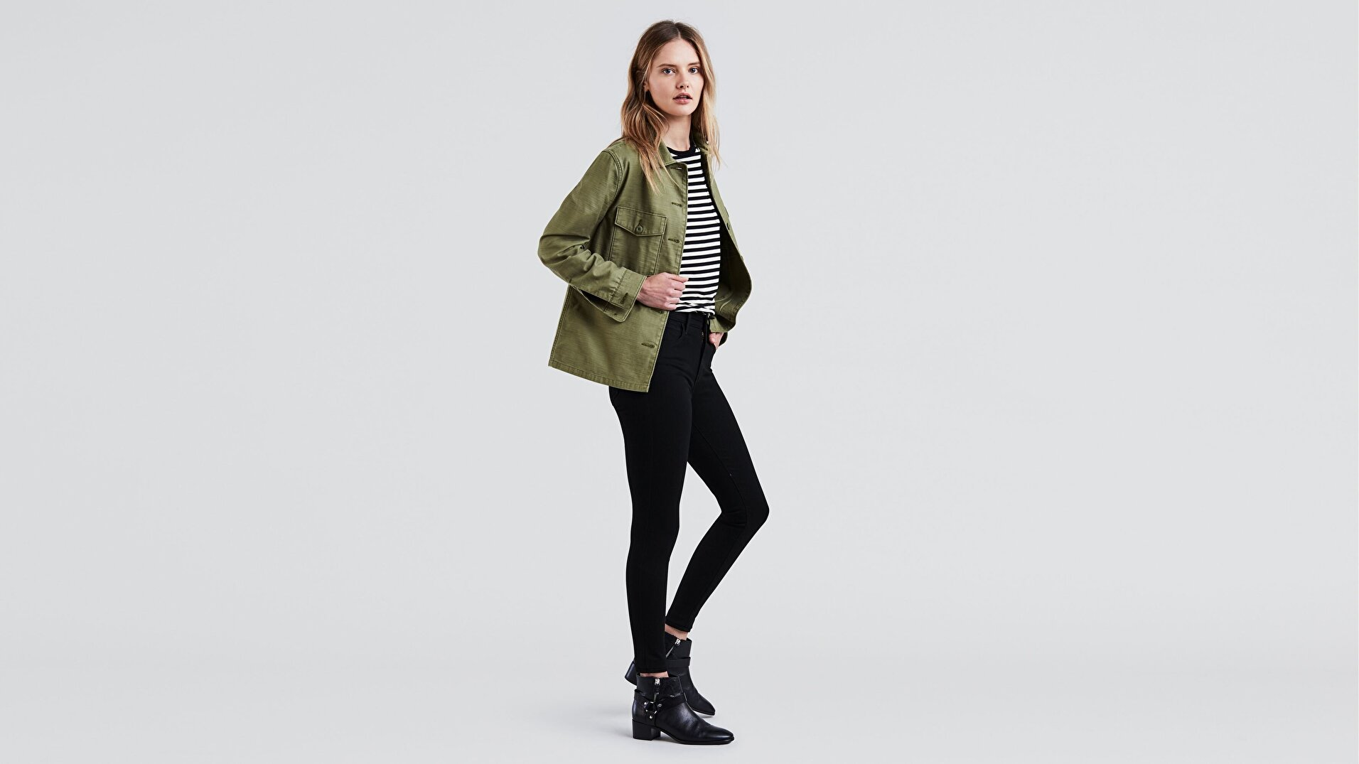 720 Yüksek Bel Süper Skinny Kadın Jean Pantolon- Galaxy