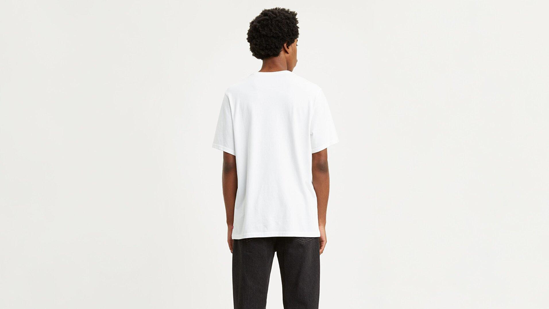 Relaxed Graphic Tee 90'S Serif Logo Beyaz Erkek Tişört