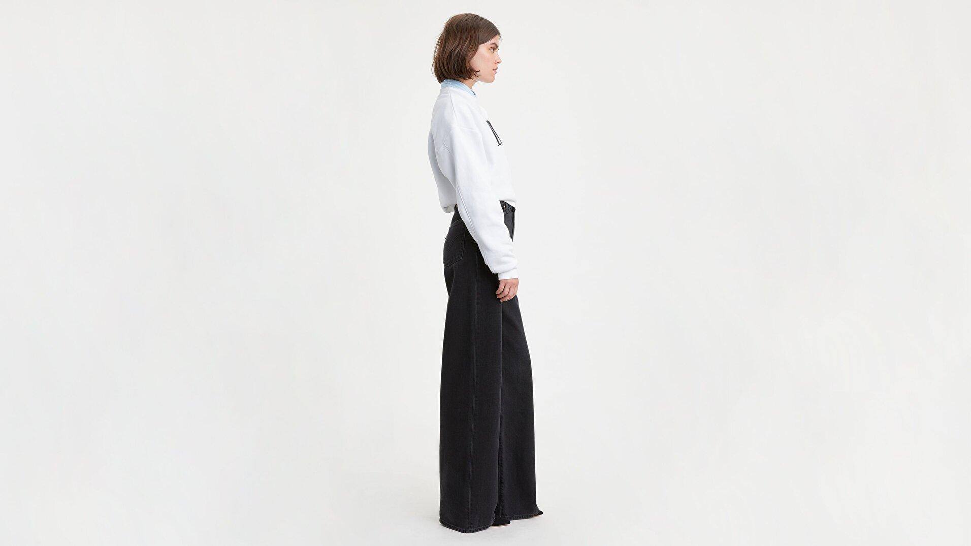 Ribcage Wide Leg Kadın Kadife Pantolon- Book - Rc