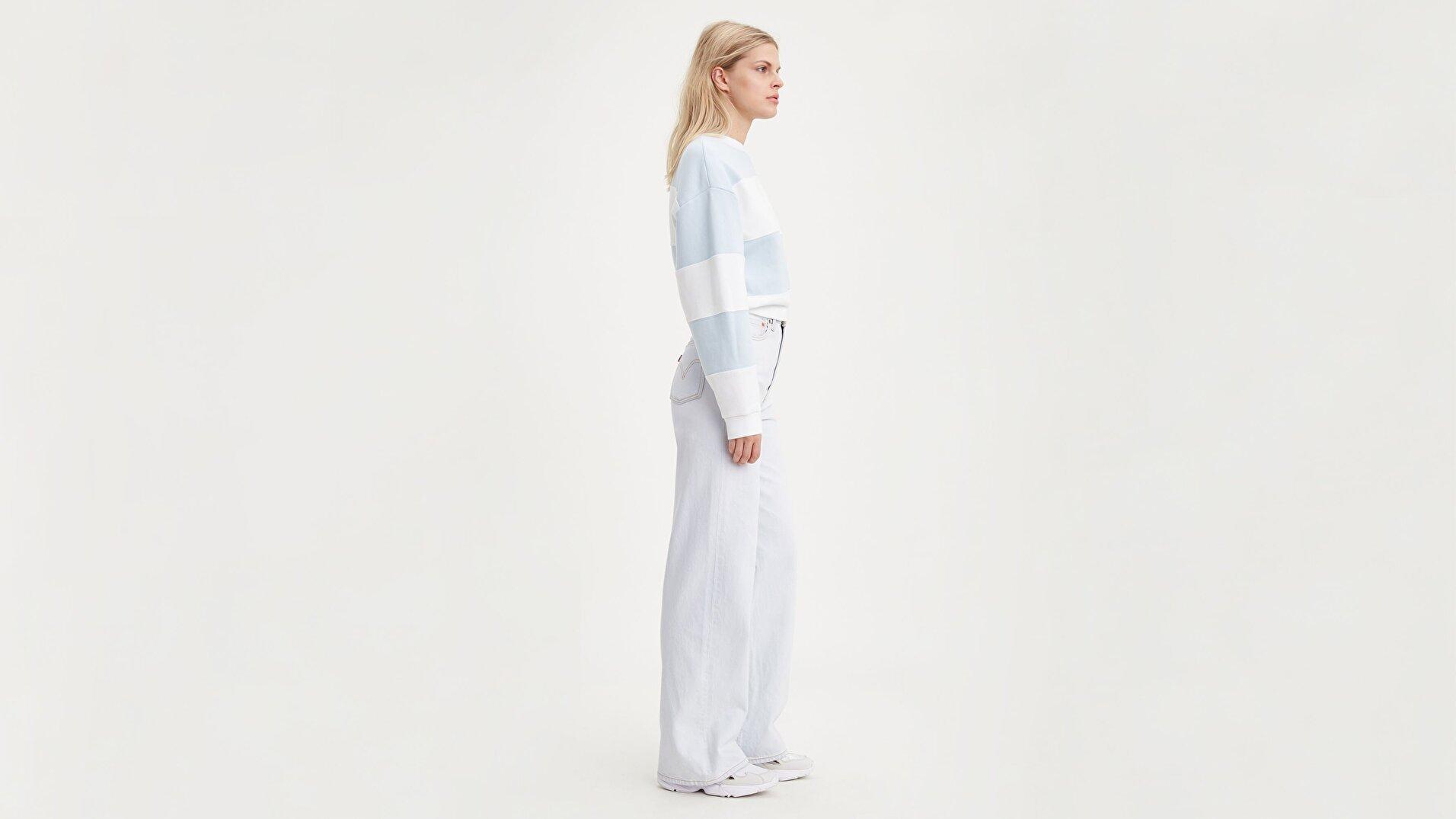 Ribcage Wide Leg Kadın Kadife Pantolon-Cold As Ice - Rc
