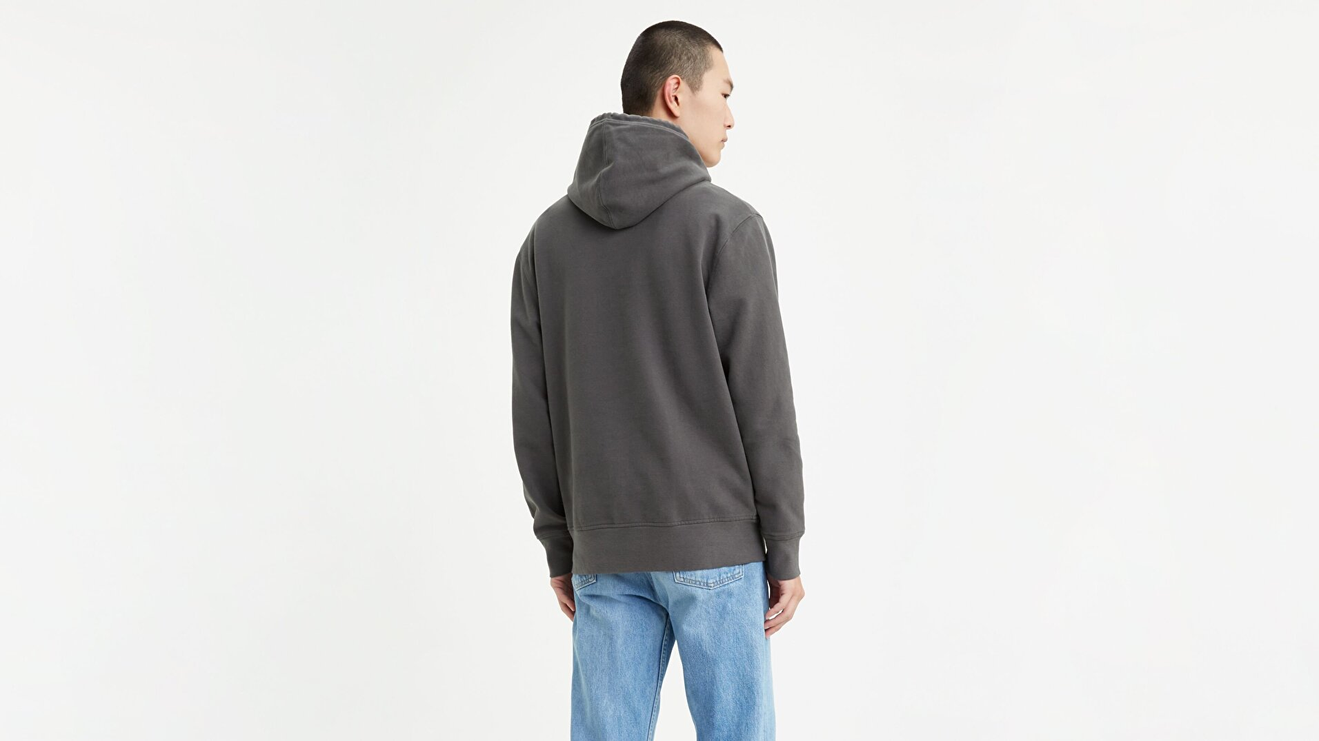 Pieced Pullover Hoodie Pieced Pullover Siyah Erkek Kapüşonlu Sweatshirt