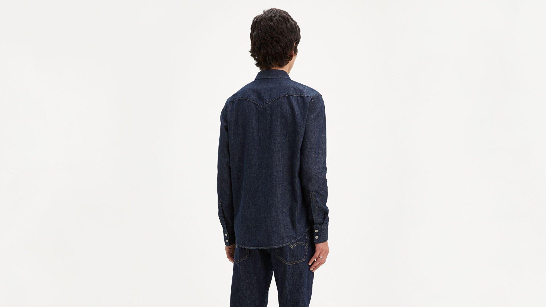 Barstow Western Standard  Mavi Erkek Gömlek
