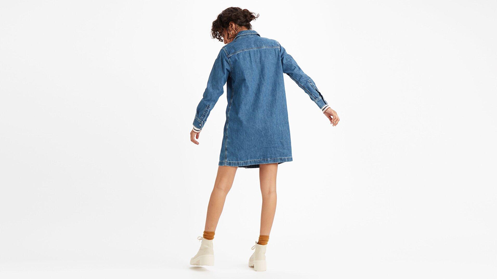 Selma Dress Going Koyu İndigo Kadın Elbise