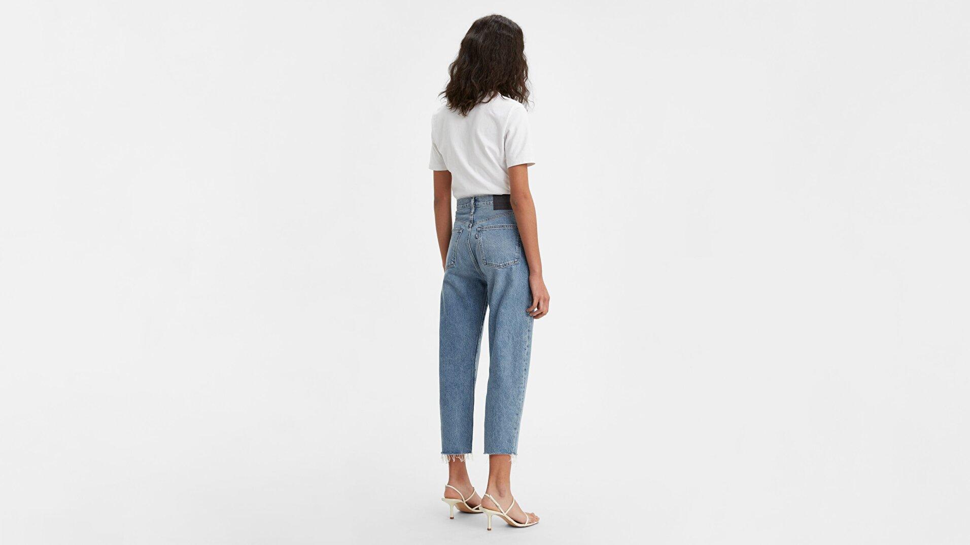 Made & Crafted® Barrel Crop Kadın Jean Pantolon -Lmc Palm s