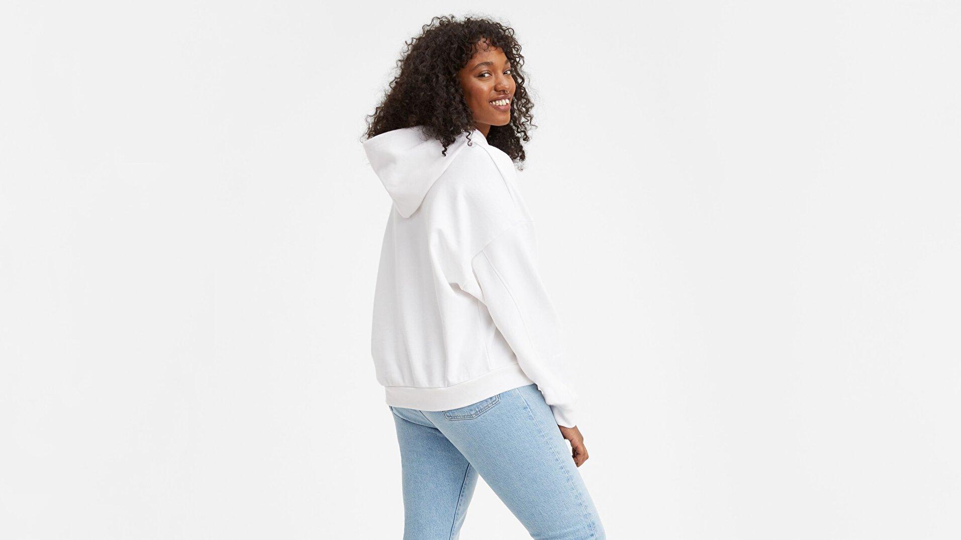 Graphic 2020 Hoodie Hoodie Tall Beyaz Kadın Kapüşonlu Sweatshirt