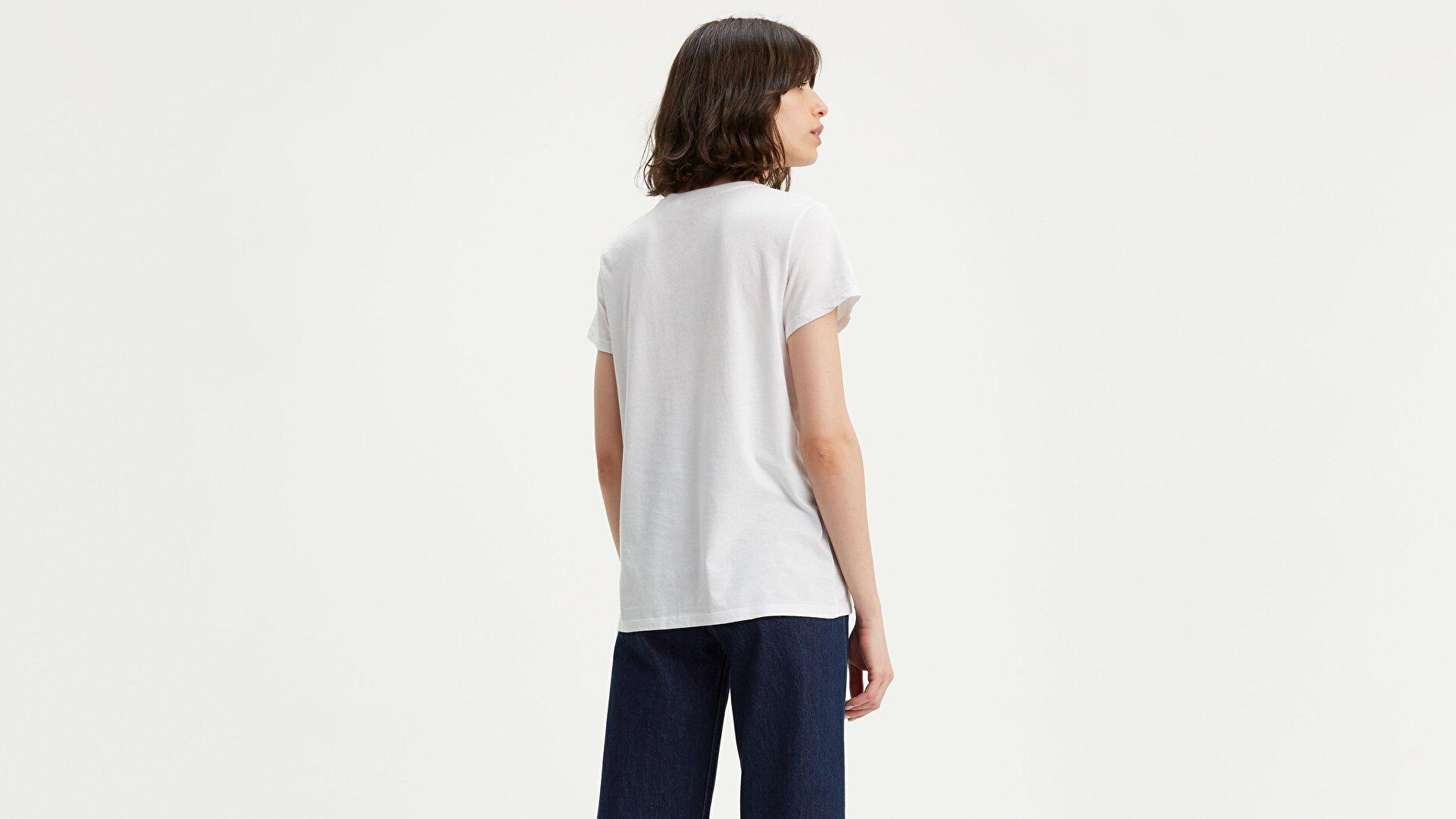 The Perfect Tee Core Housemark Beyaz Kadın Tişört