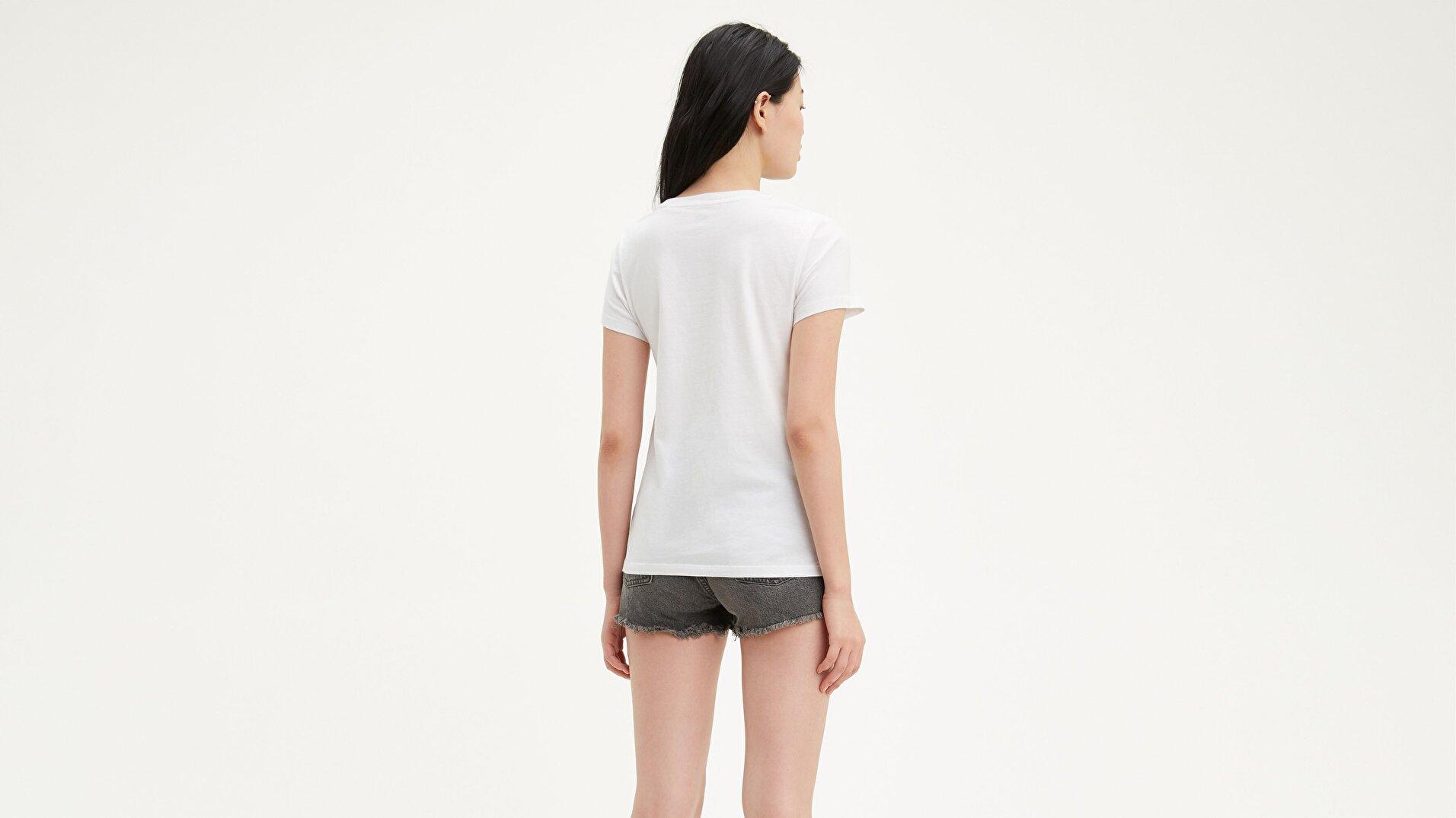 The Perfect Tee Cali Sportswear Beyaz Kadın Tişört
