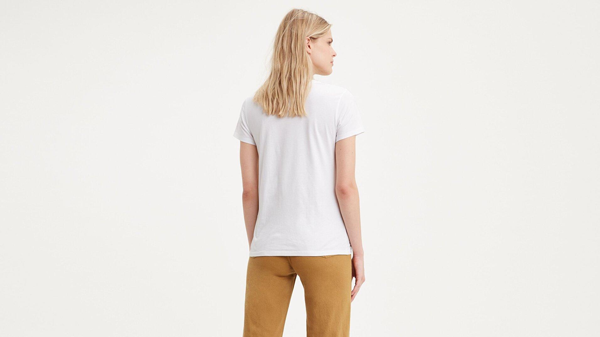 The Perfect Tee Pink California Beyaz Kadın Tişört