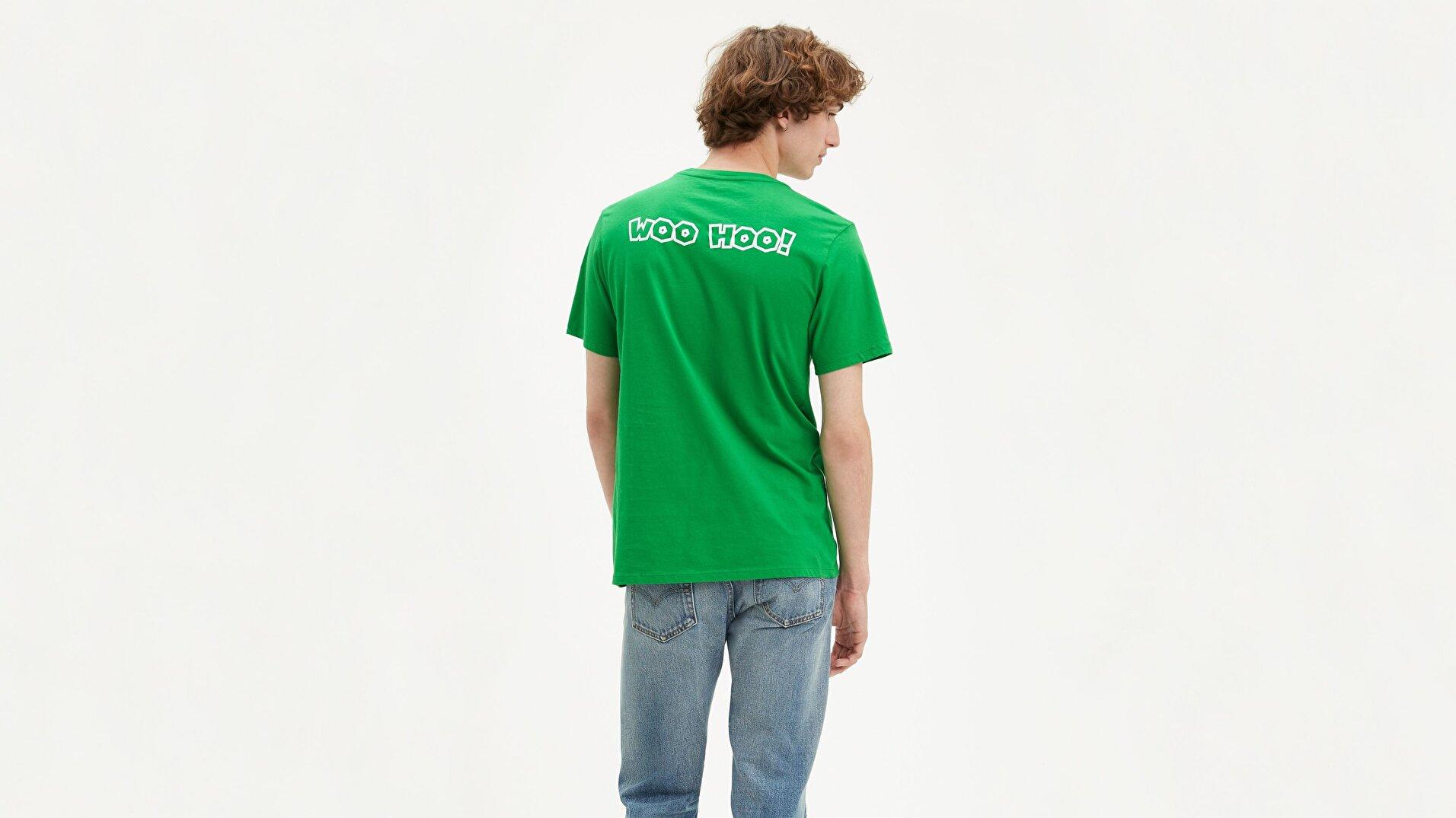 Graphic Set-In Neck 2 Toad Lc Yeşil Erkek Tişört