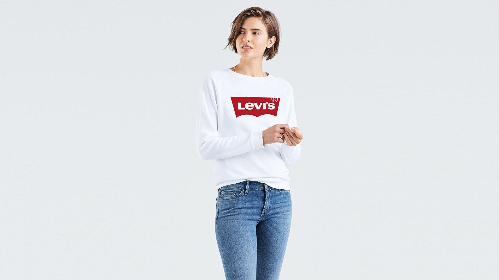 Relaxed Graphic Crew Fleece Good Beyaz Kadın Sweatshirt