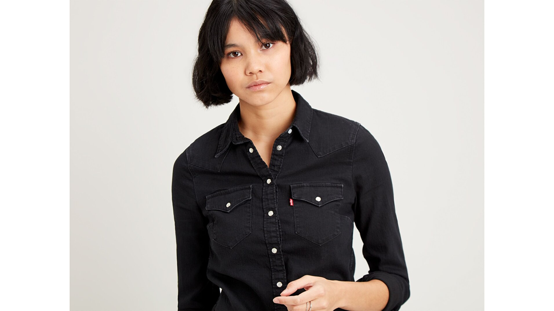 Ultimate Western  Siyah Kadın Gömlek