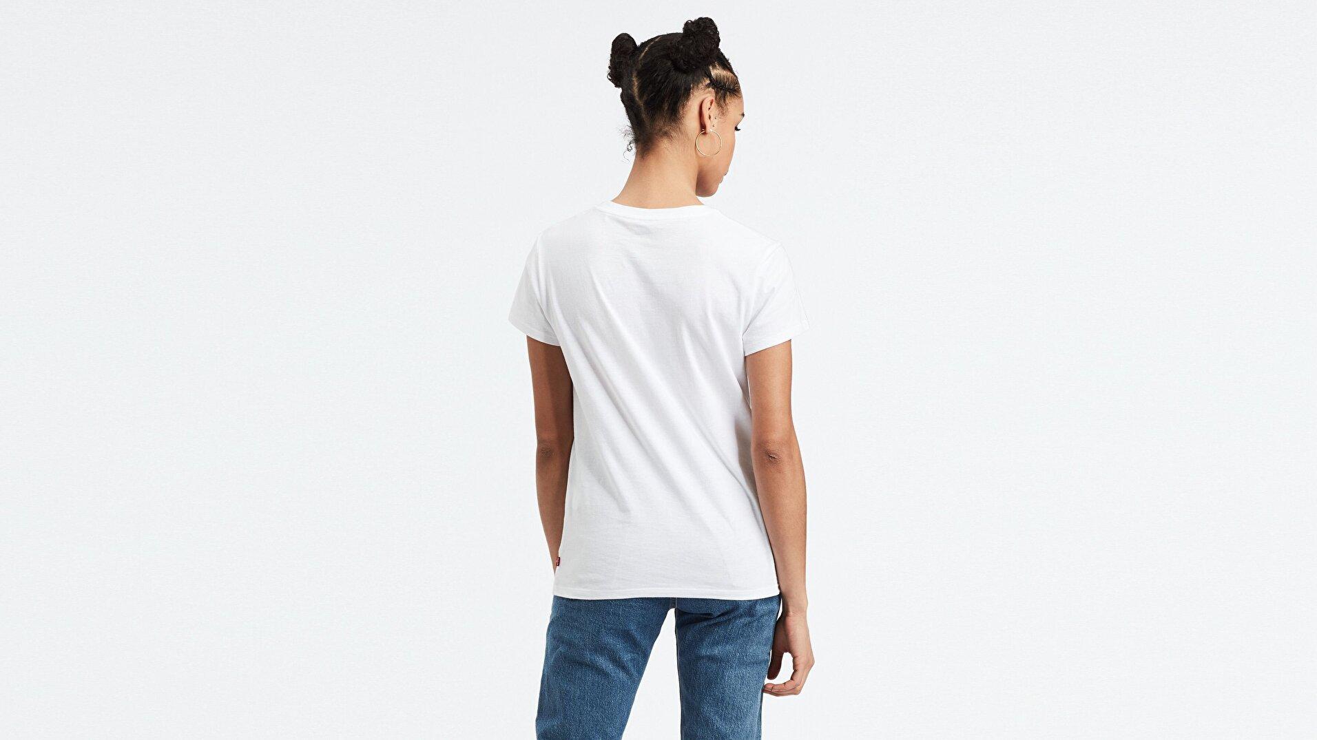 The Perfect Tee 2.0 T3 Bw Beyaz Kadın Tişört