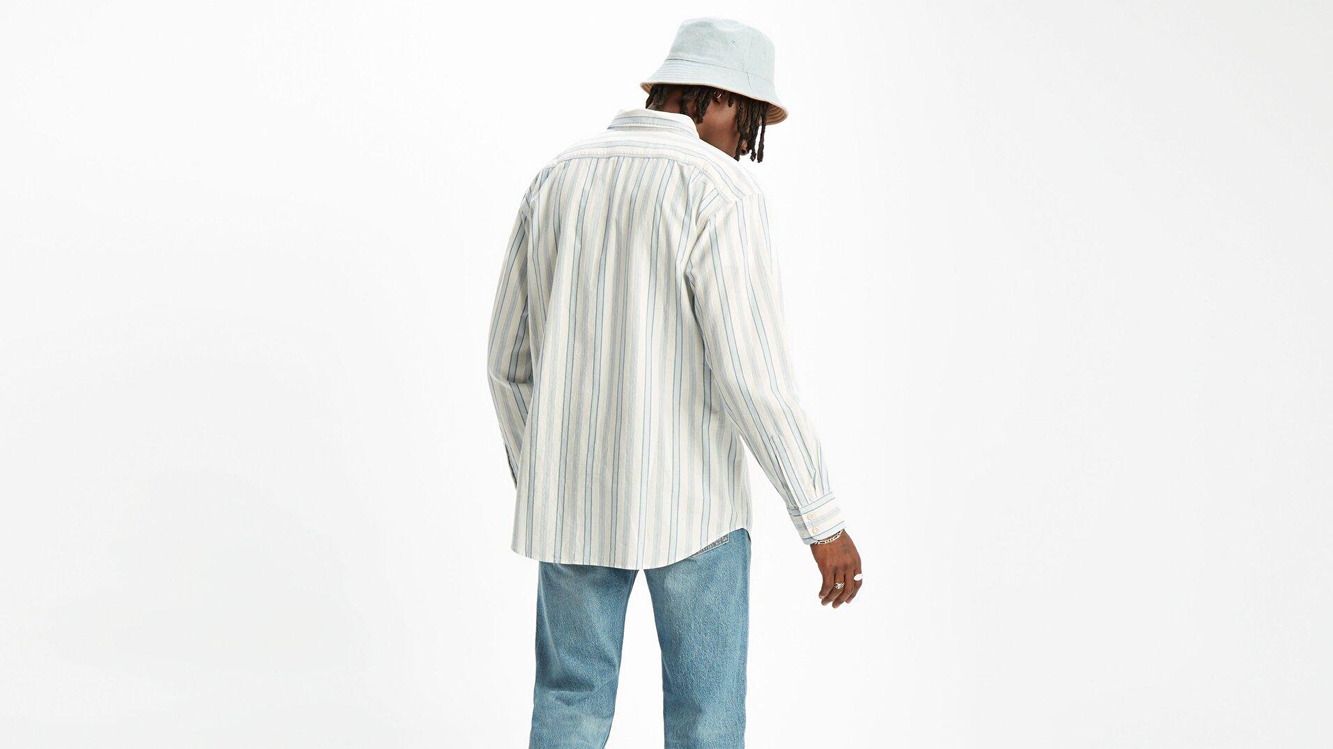 Oversize Barstow Western Arlo Cloud Beyaz Erkek Gömlek
