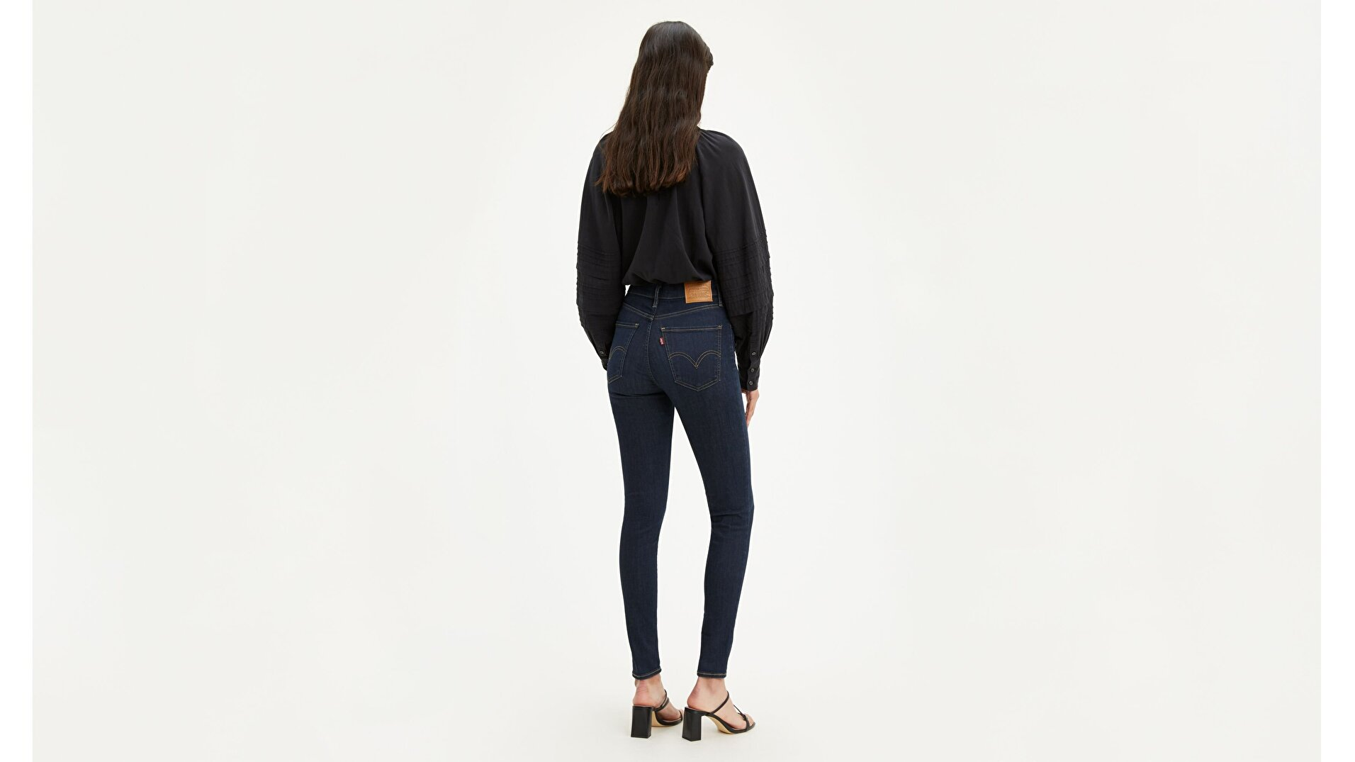 Mile High Super Skinny Kadın Jean Pantolon-Echo Darkness