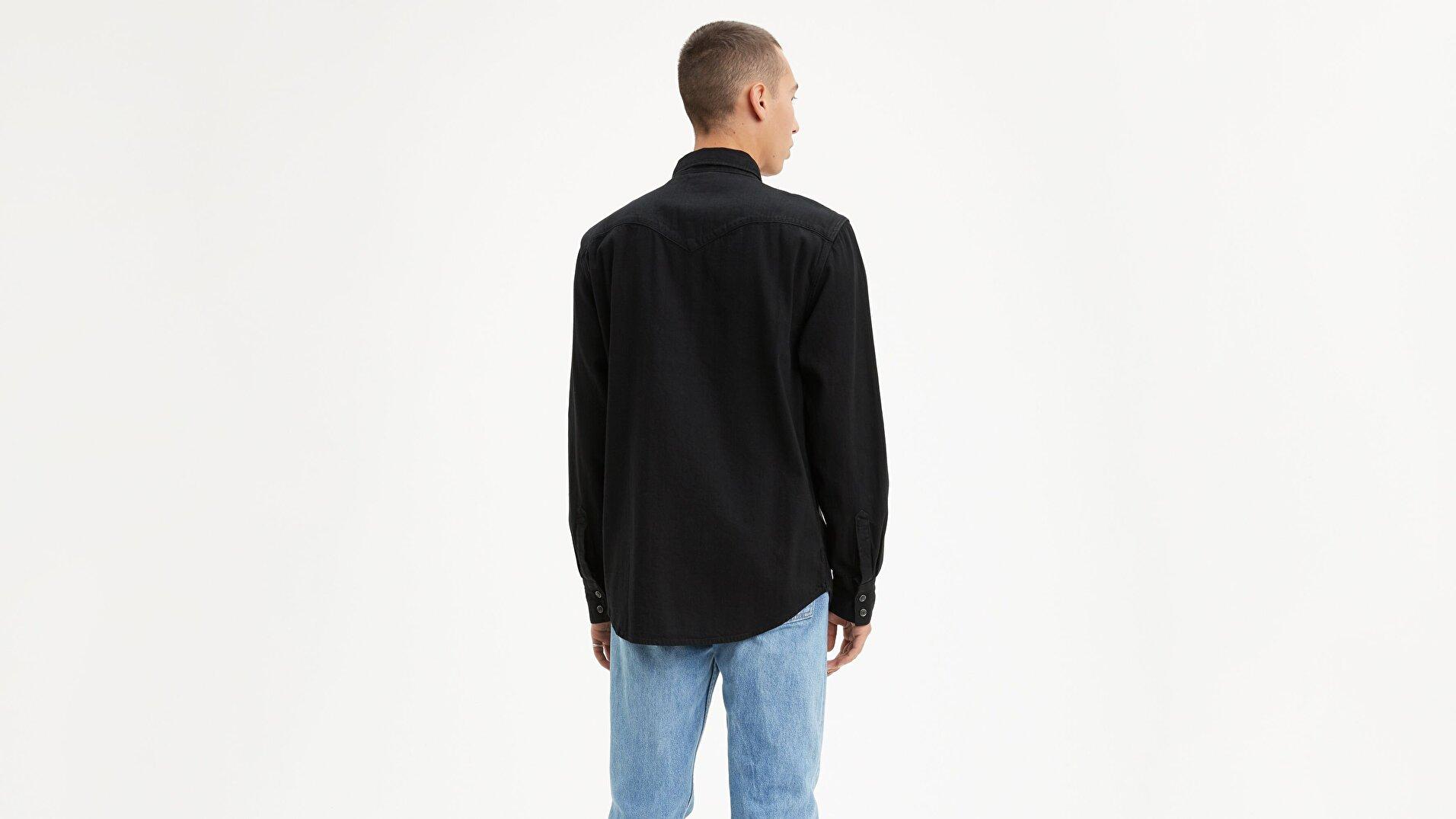 Barstow Western Standard Marble Siyah Erkek Gömlek