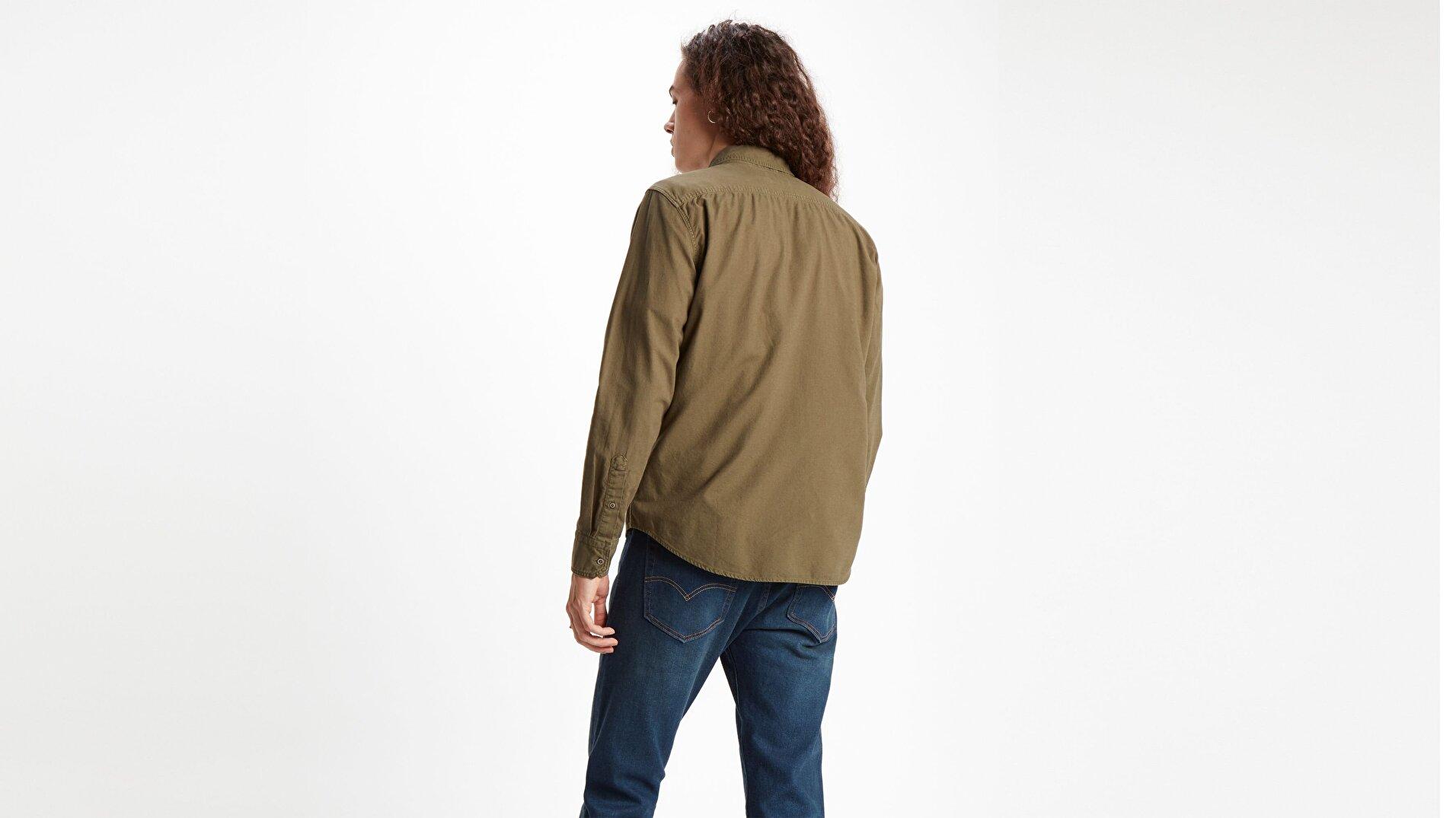 Ls Battery Hm Shirt Slim  Yeşil Erkek Gömlek