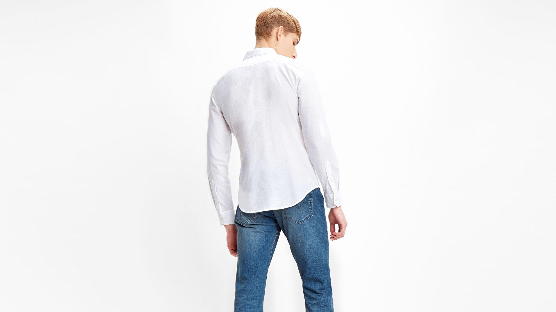 Ls Battery Hm Shirt Slim  Beyaz Erkek Gömlek