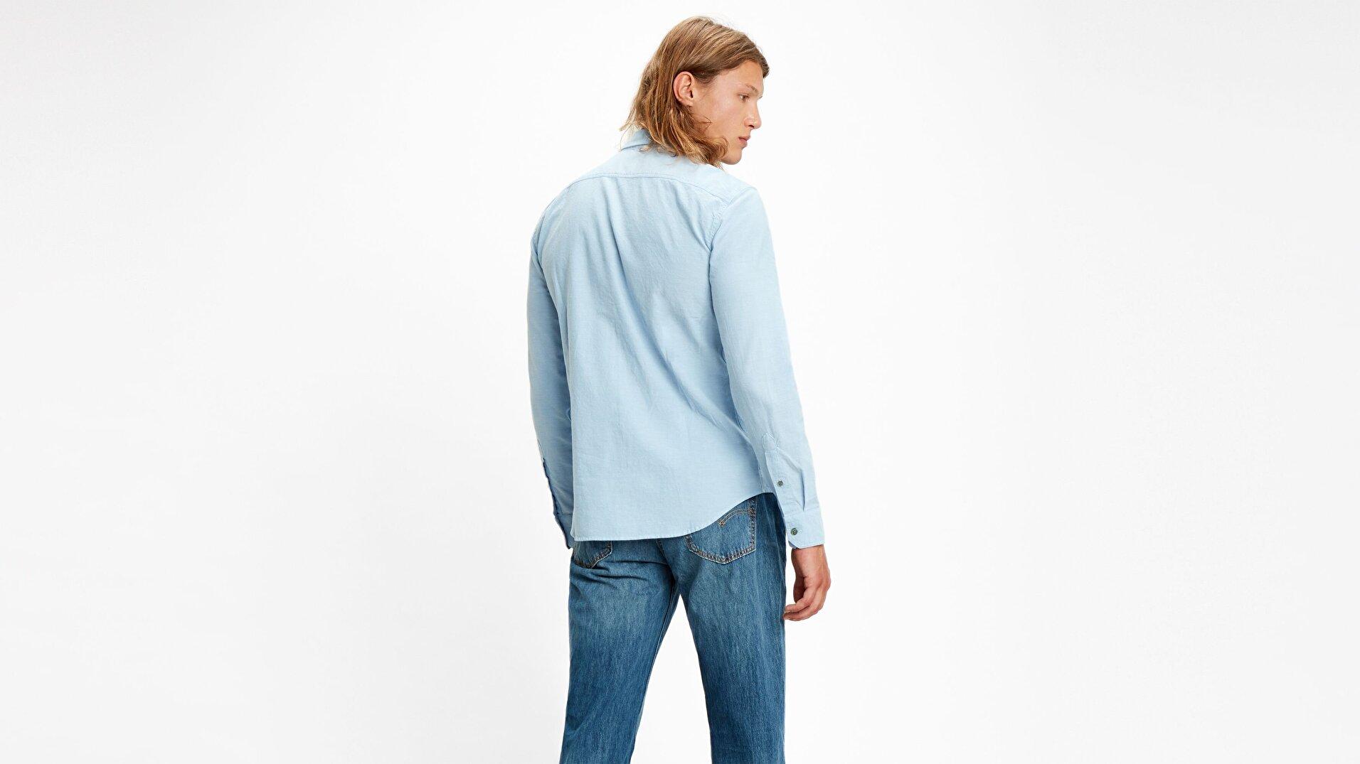 Ls Battery Hm Shirt Slim Allure Mavi Erkek Gömlek