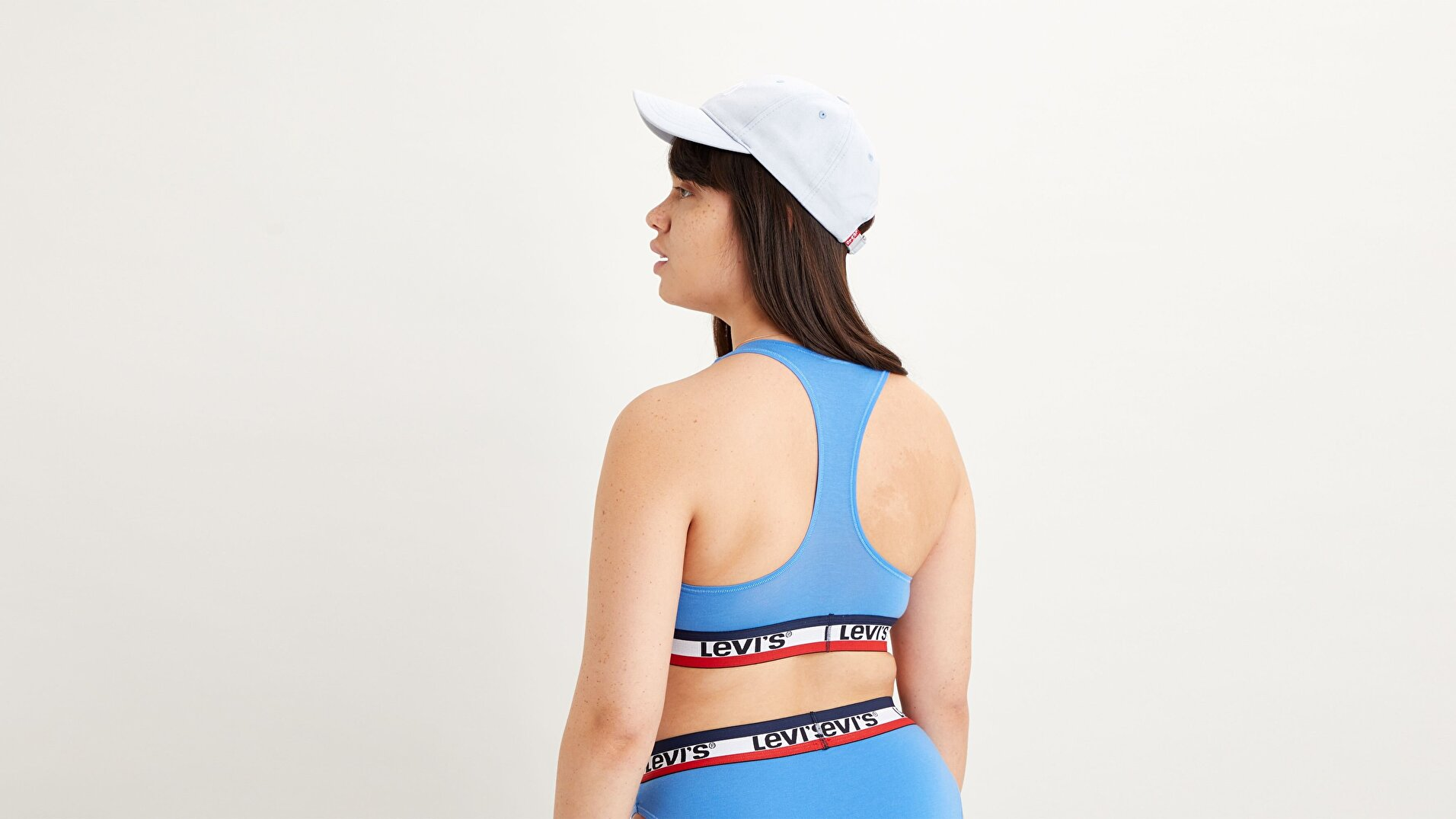 Logo Tape Sports Bra Marina Mavi Kadın Spor Sütyeni