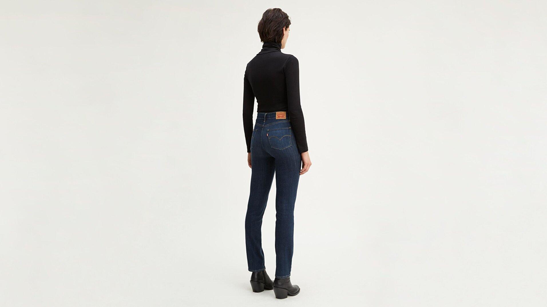 724 Yüksel Bel  Kadın Jean Pantolon-Carbon Glow