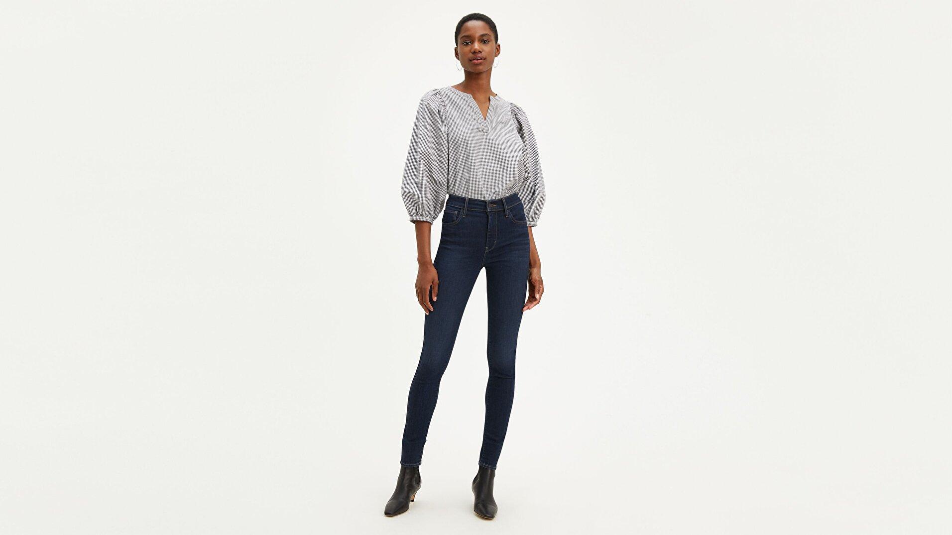 720 Yüksek Bel Süper Skinny Kadın Jean Pantolon-Deep Serenity