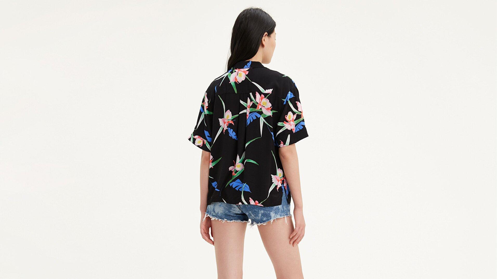 Jamie Shirt 80S Tropical Çok renkli Kadın Gömlek