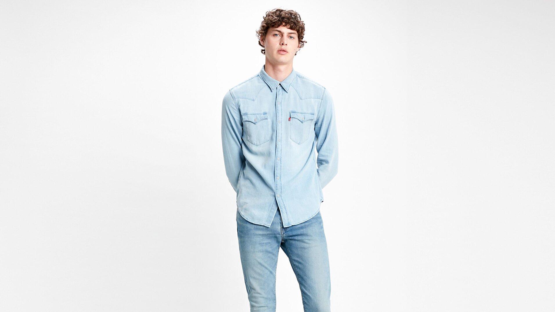 Barstow Western Standard Lw Mavi Erkek Gömlek