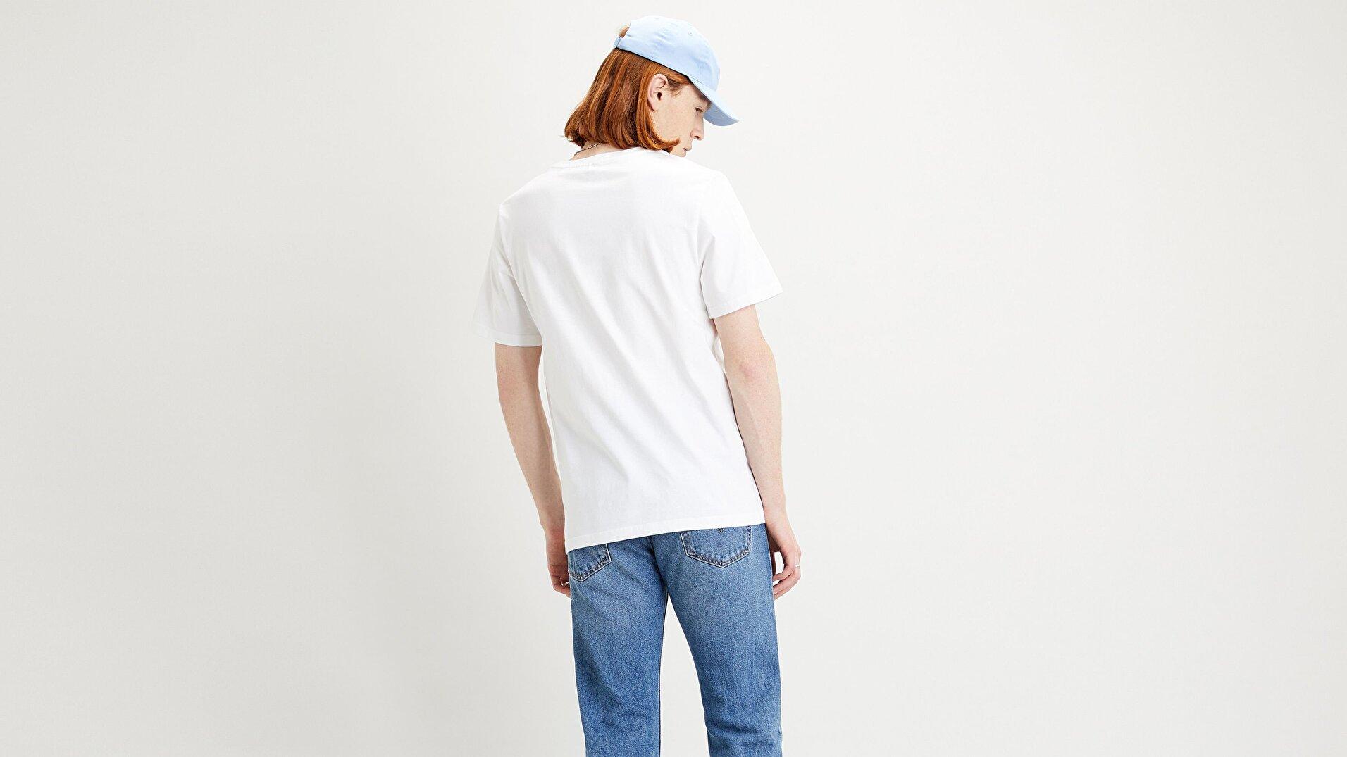 Ss Relaxed Fit Tee Bi Relaxed Beyaz Erkek Tişört