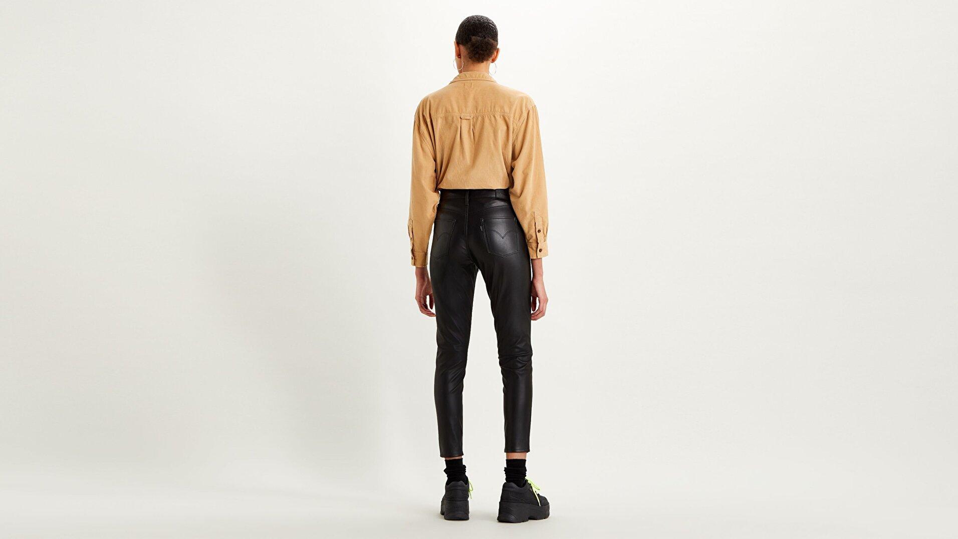 720 Kadın Suni Deri Pantolon-Leather Night