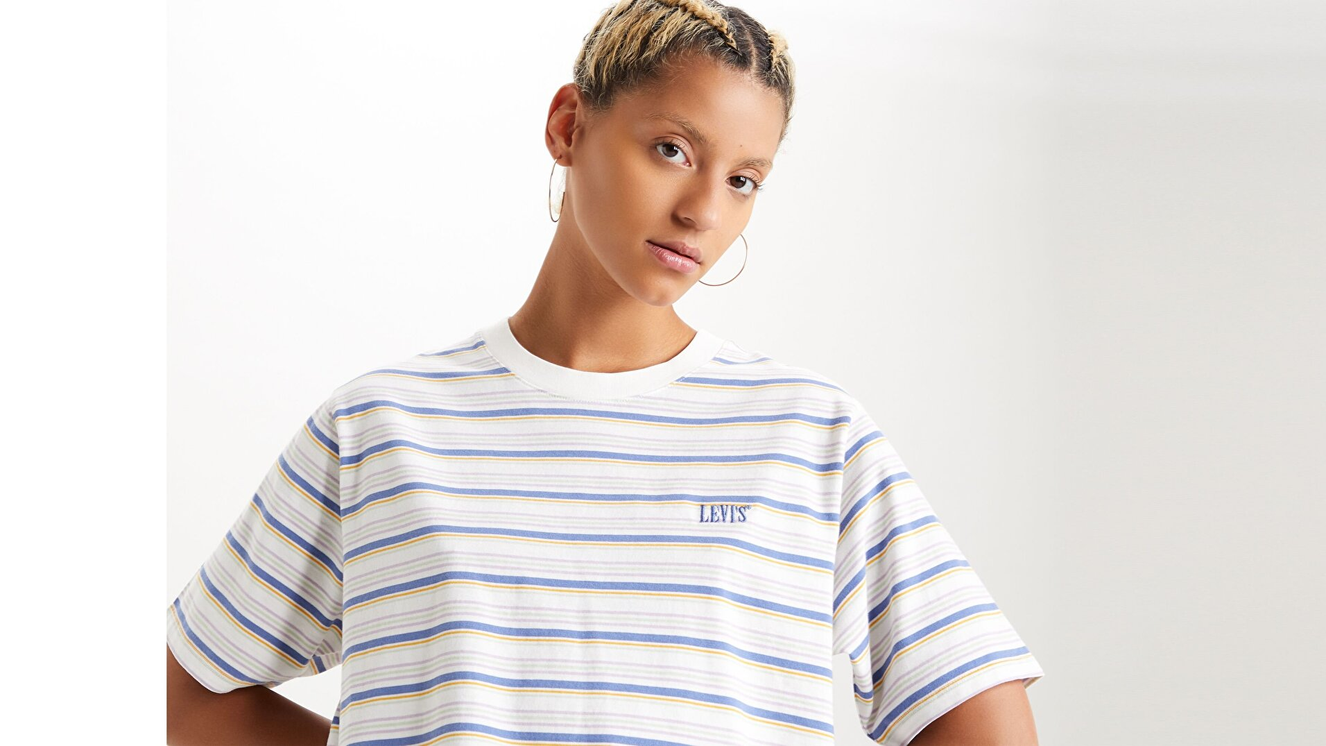 Ss Boxy Tee Opal Cloud Beyaz Kadın Tişört