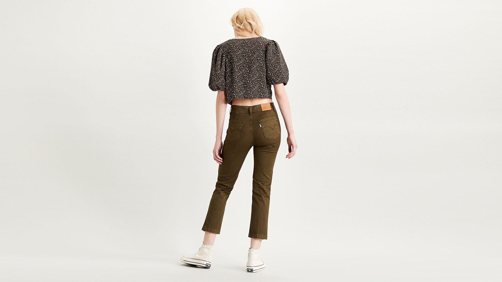 724 Yüksek Bel Düz Kesim Cropped Kadın Jean Pantolon-Soft Canvas  Night Od