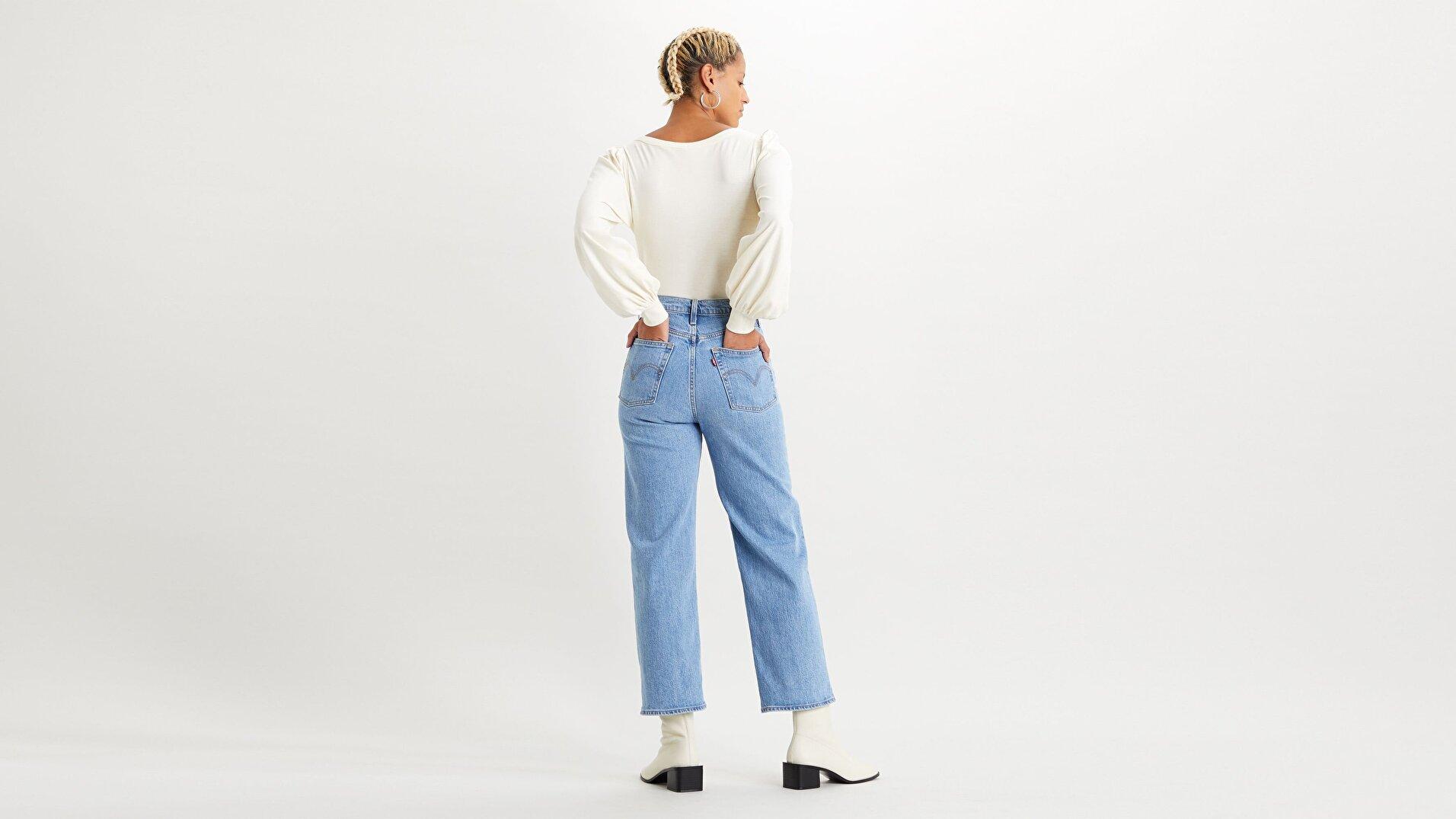 Ribcage Straight Ankle Kadın Jean Pantolon-Tango Gossip