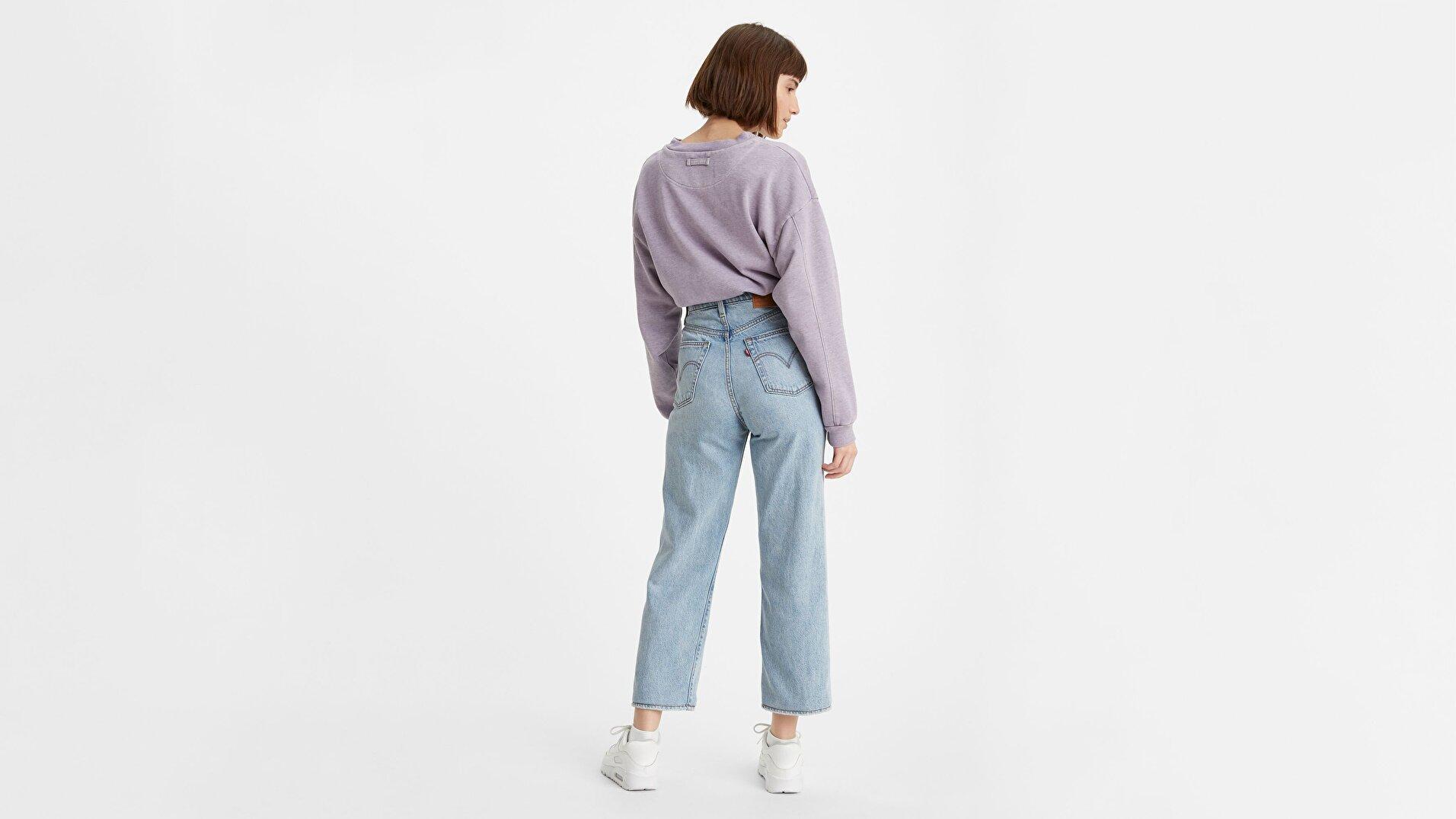 Ribcage Straight Ankle Kadın Jean Pantolon-Middle Road