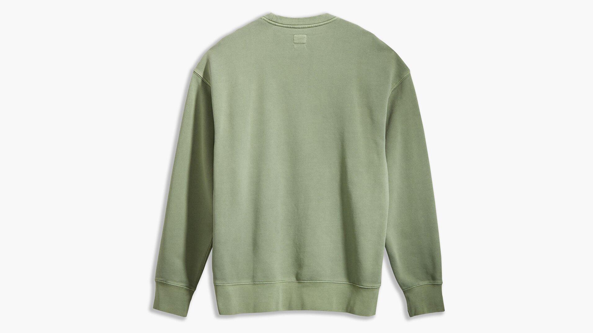 Authentic Logo Crewneck Ft Garment Beyaz Erkek Sweatshirt
