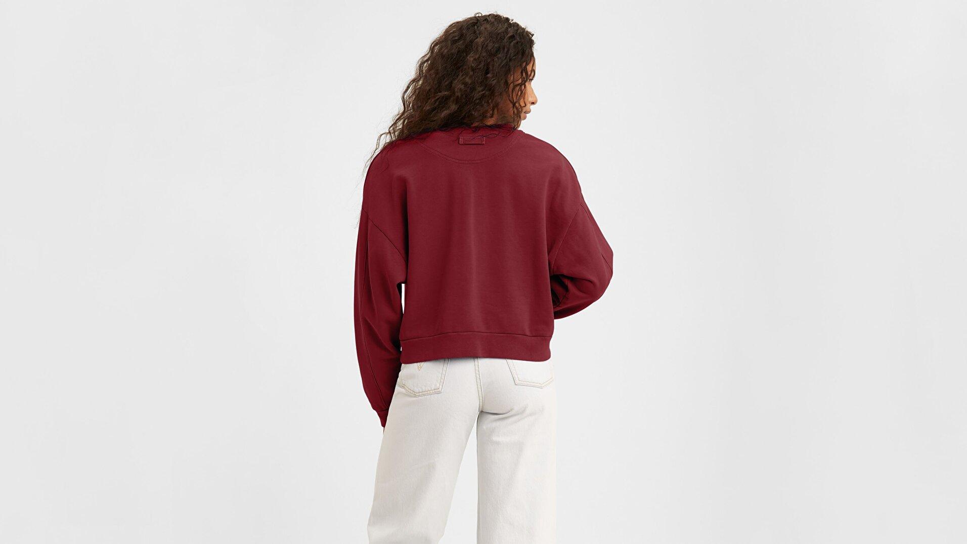 Diana Crew Tight Loops Kadın Kırmızı Sweatshirt