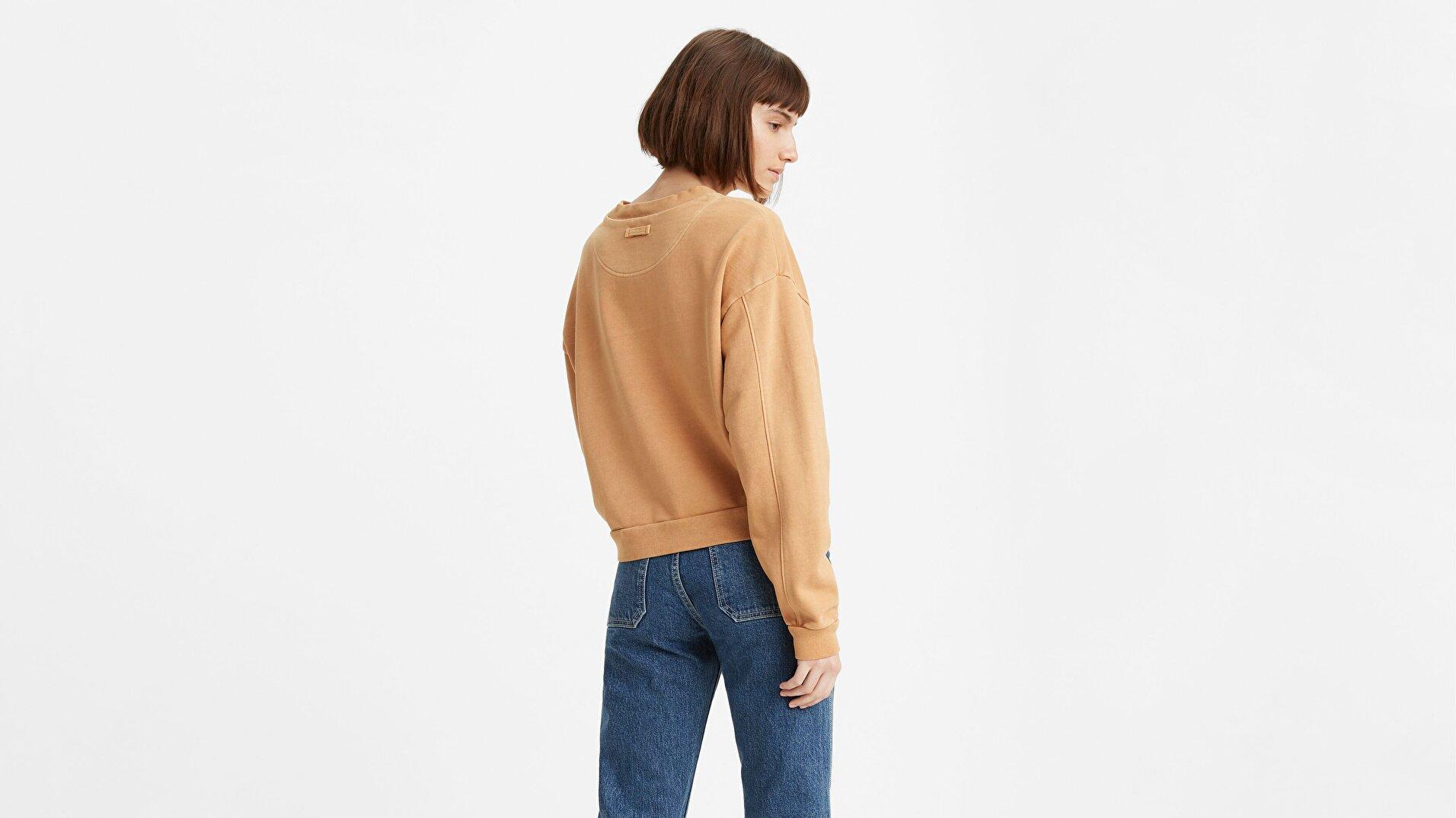 Diana Crew Iced Coffee Bej Kadın Sweatshirt