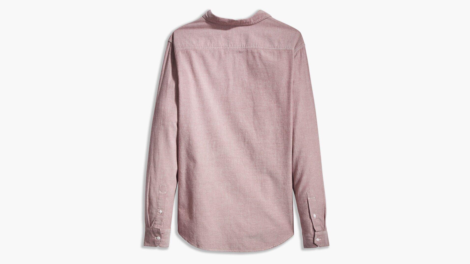Ls Battery Hm Shirt Slim Port Kırmızı Erkek Gömlek