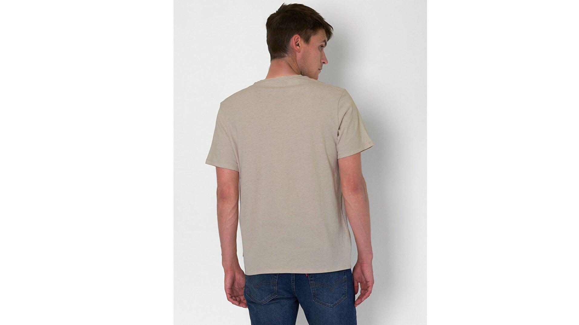 Wellthread Graphic Tee Sand Cotton Açık Kahverengi Erkek Tişört